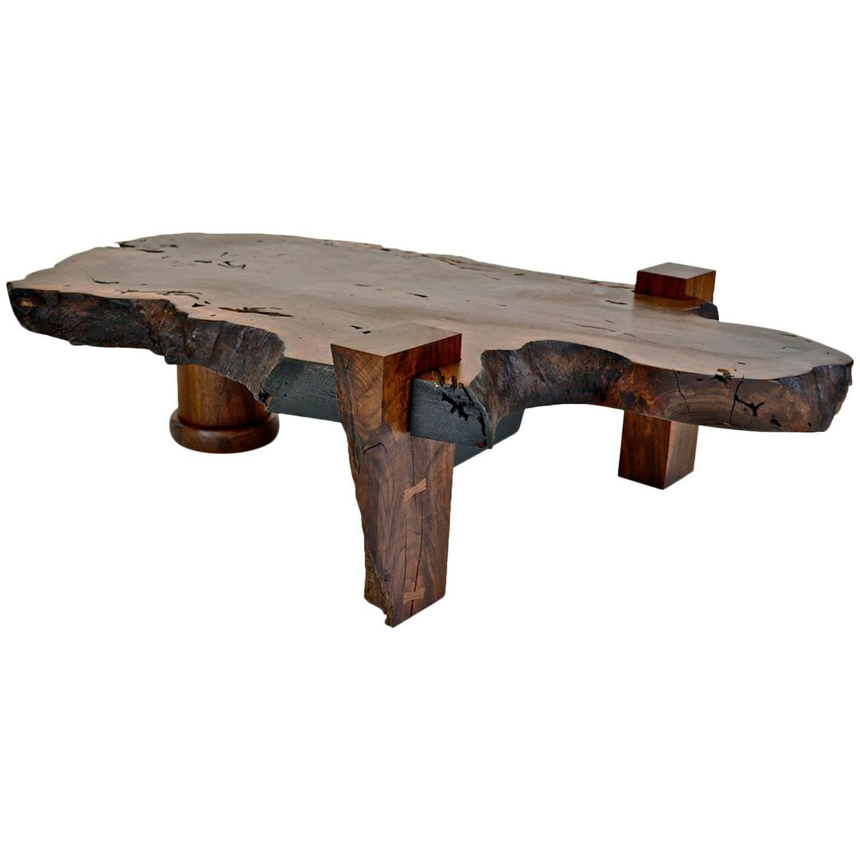 Slab Coffee Table: Walnut Slab Coffee Table For Sale At 1stdibs