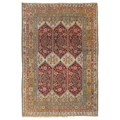 "Antique Indian Agra Carpet, Indian Rugs, Oriental Rugs, Red, Gold, 5'10"" x 9'8"""