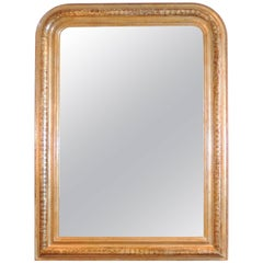 Silver Leaf Louis Philippe Mirror Incised Ribbon