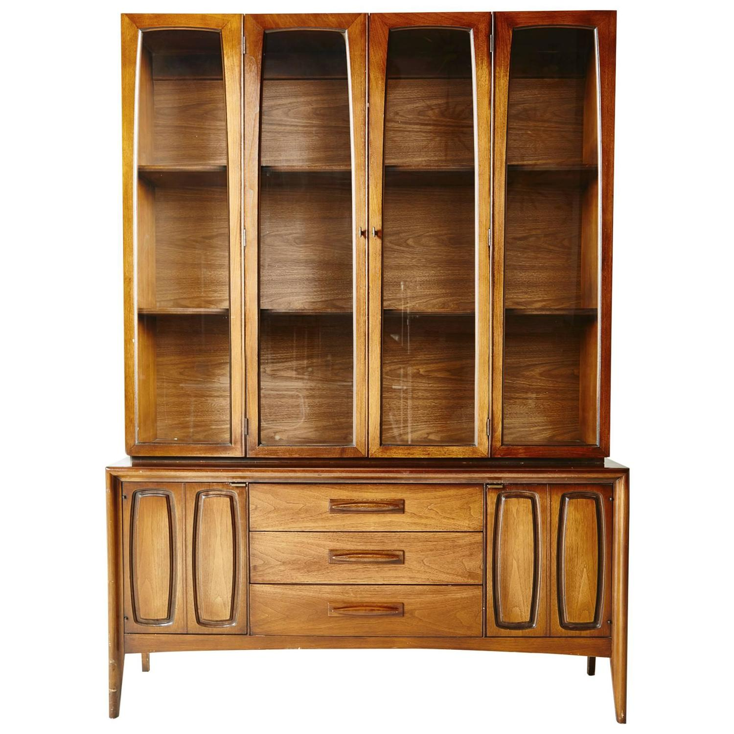 on sale american modern china display cabinet at 1stdibs. Black Bedroom Furniture Sets. Home Design Ideas
