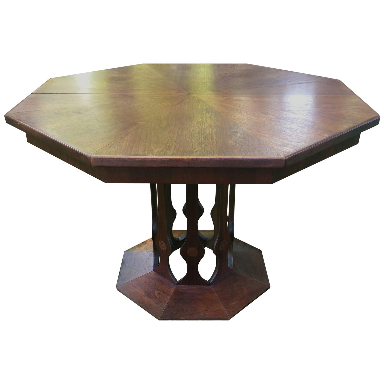 Foster Mcdavid Octagonal Walnut Table At 1stdibs