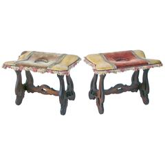 Pair of Petite Spanish Stools