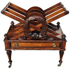 Regency Period Rosewood Canterbury or Magazine Stand