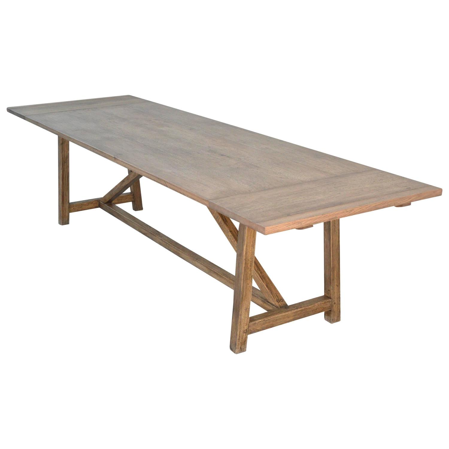 Custom dining table in vintage oak extendable for sale at for Unique kitchen tables for sale