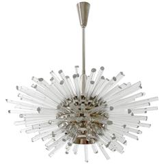 'Miracle' Chandelier by Bakalowits, Nickel Glass, Austria, Vienna, 1960s