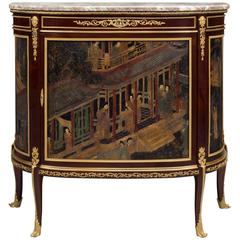 Louis XVI Style Mahogany and Lacquer Commode by François Linke, circa 1890
