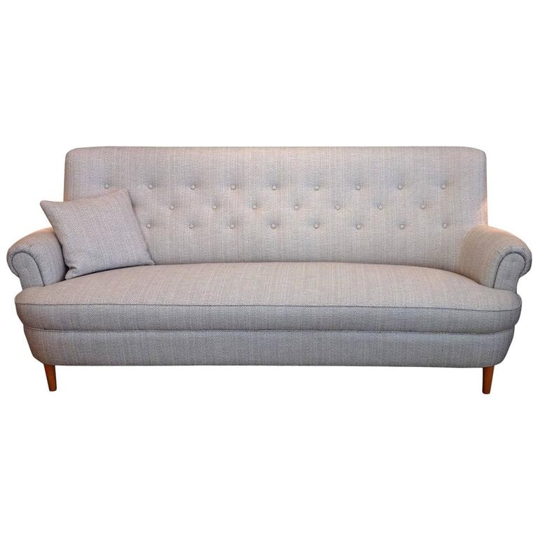 Carl malmsten hemmakv ll sofa sweden 1950s at 1stdibs Carl malmsten sofa
