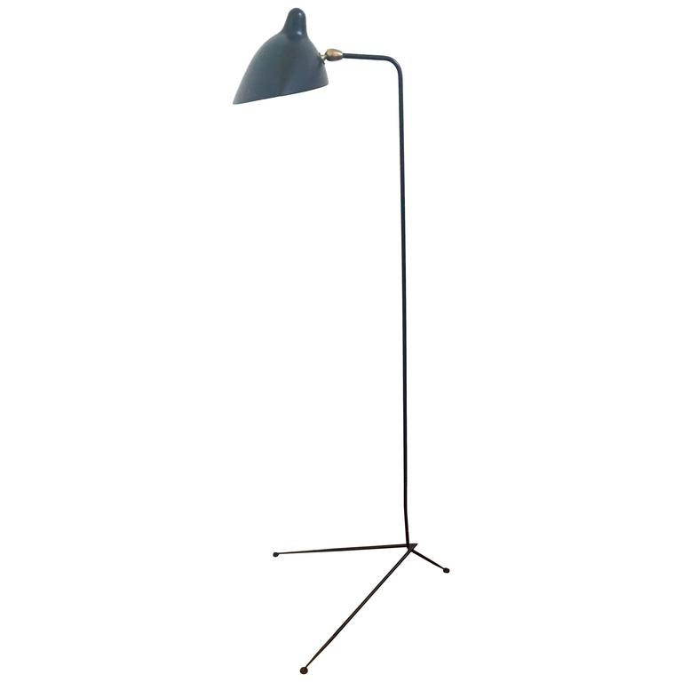 Standing one arm floor lamp by serge mouille at 1stdibs Serge mouille three arm floor lamp