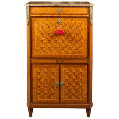 Marquetry Inlaid Louis XVI Fall Front Secretaire