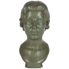 Bronze Woman Bust