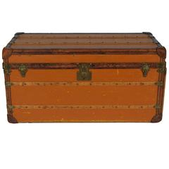 Louis Vuitton Vuittonite Orange Steamer Trunk