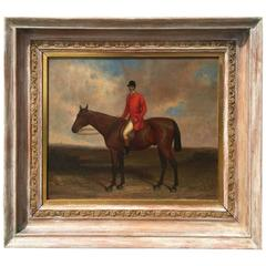 """19th Century English Sporting Painting """"Hunt Master Up"""""""