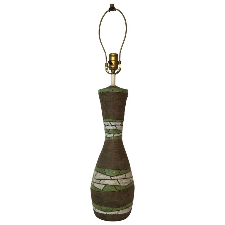 Aldo Londi for Bitossi Raymor Pottery Table Lamp For Sale