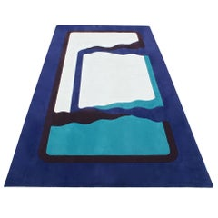 Abstract Wool Rug 10x17 in Style of Edward Fields