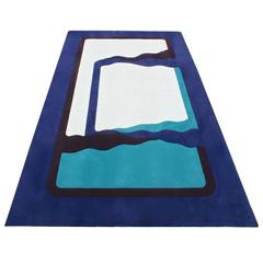 Abstract Wool Rug in Style of Edward Fields