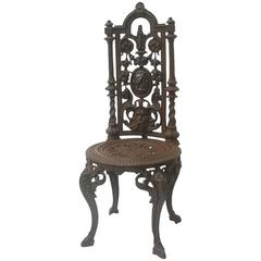 19th Century Napoleon III Cast Iron Chair