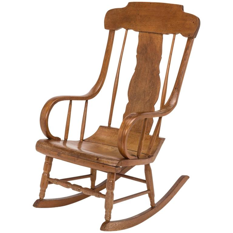 Antique Swedish Style Rocking Chair 1 - Antique Swedish Style Rocking Chair For Sale At 1stdibs