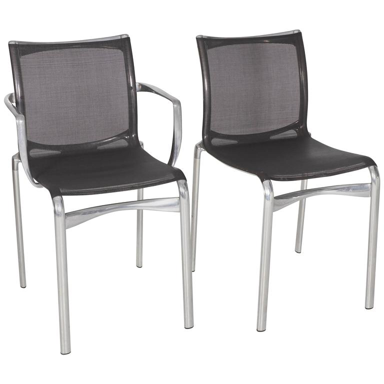 Steel Frame Arm and Side Chair