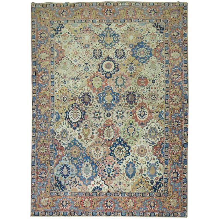 Antique Petag Tabriz Carpet
