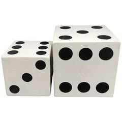 Set of Large Dice Side Tables