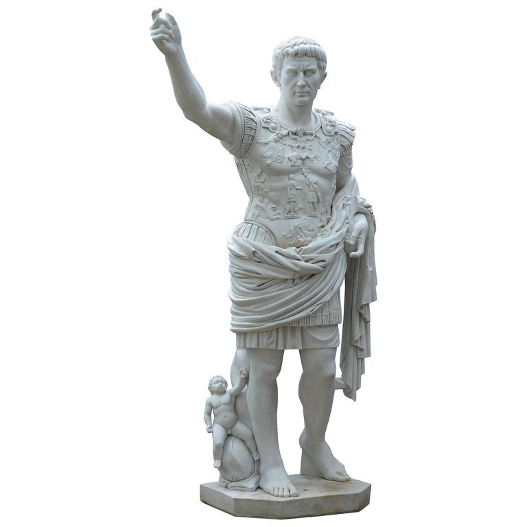 Statue of Augustus of Prima Porta For Sale