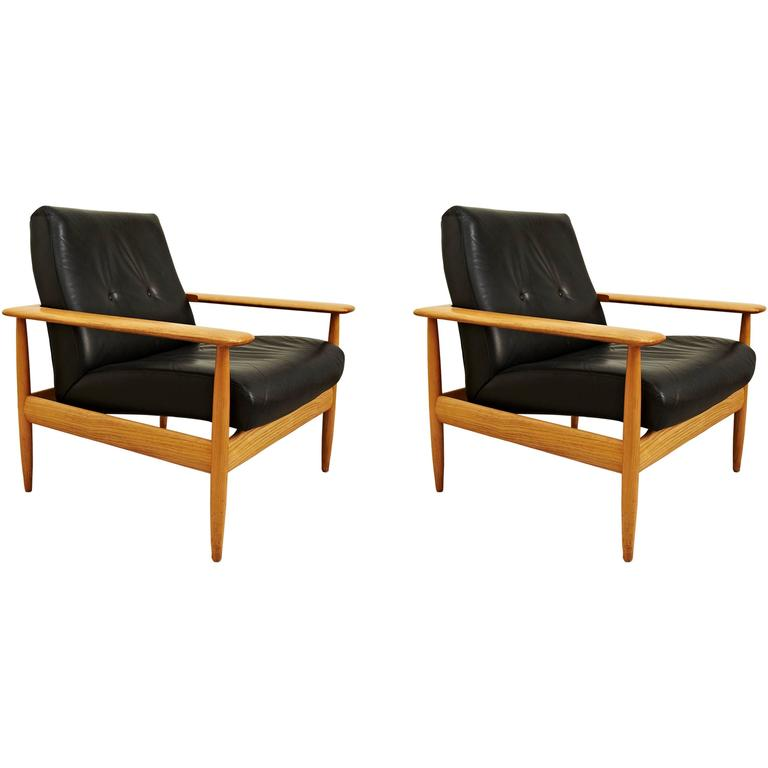 Pair of French Easy Chairs, circa 1950