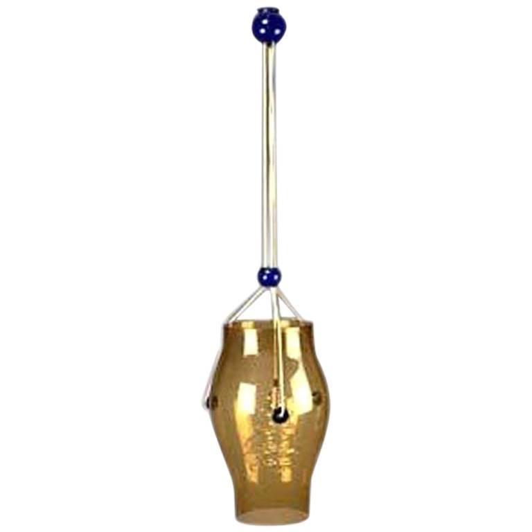 Important Murano Glass Adjustable Chandelier /Pendant, Signed Vistosi