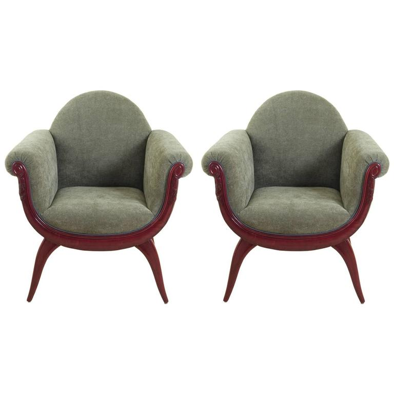 Maurice Dufrene Pair of Armchairs