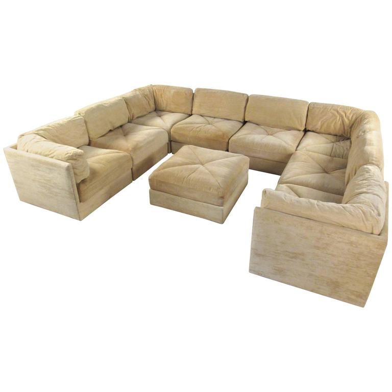 Mid Century Modern Sectional Sofa By Selig For