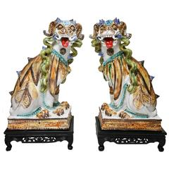 Pair of Mid-Century Chinese Foo Dogs