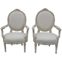 Pair of Louis XV Style Armchairs