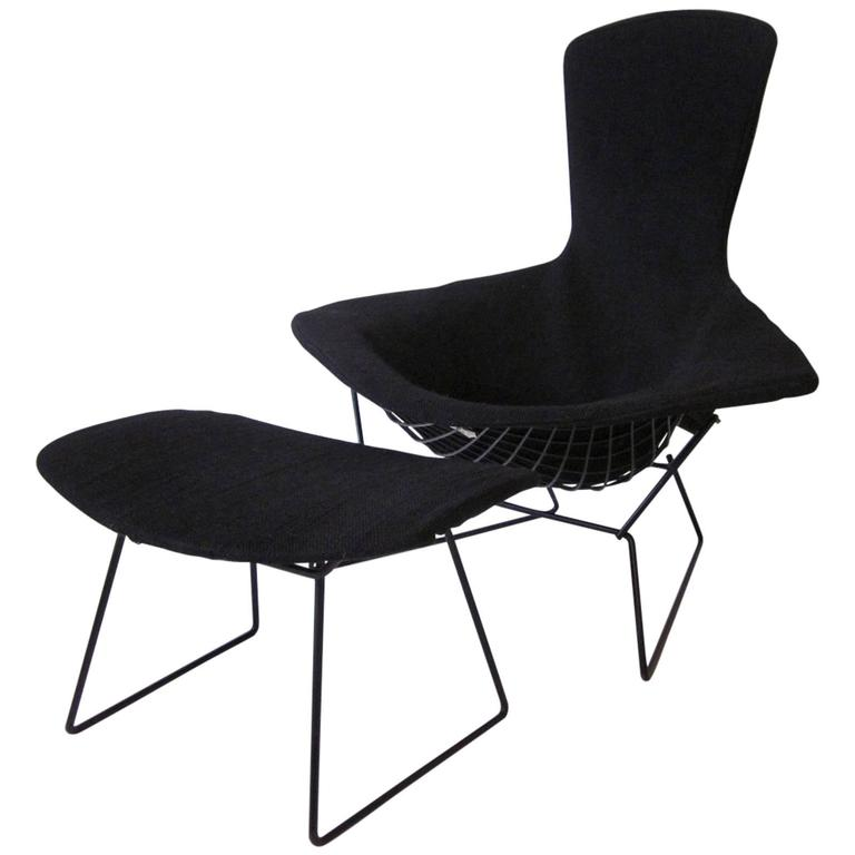 Harry Bertoia Bird Chair And Ottoman For Knoll At 1stdibs