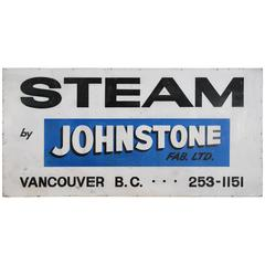 1960 Metal Advertising Sign