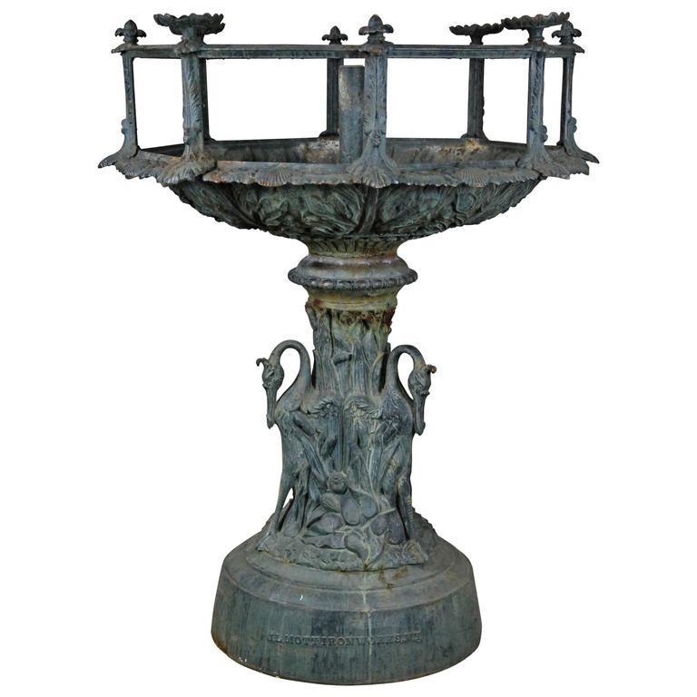 19th Century Cast Iron Aquarium Fountain by Mott