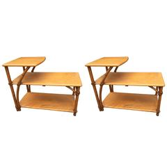 Pair of Vintage Heywood-Wakefield Side Tables, American, Mid-20th Century
