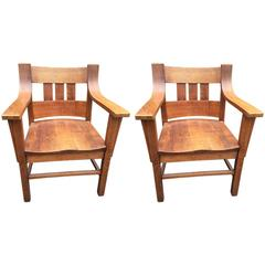 Pair of Stickley Chairs, American, circa 1900