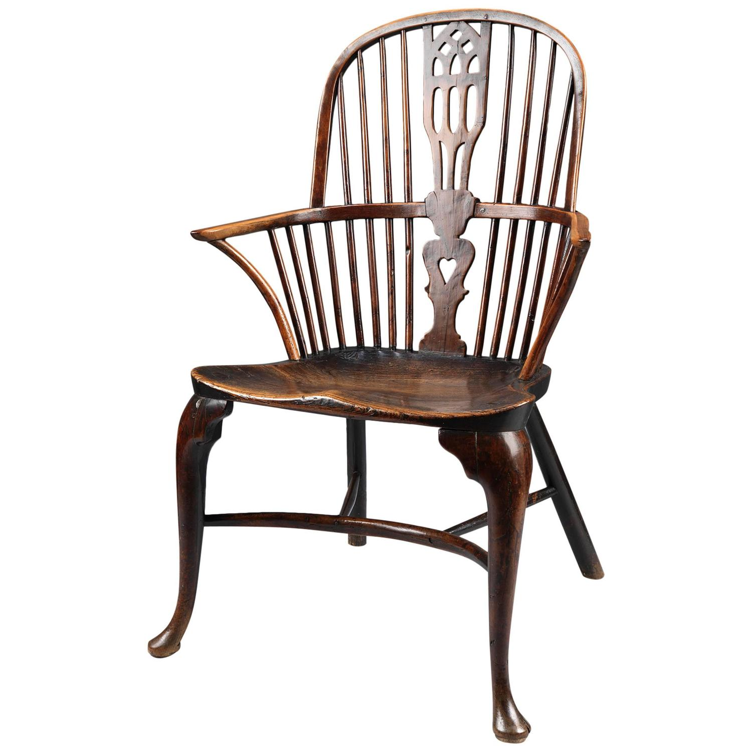 18th Century Cabriole Leg Windsor Bow Back Chair at 1stdibs