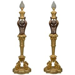 Pair of Napoléon III Torchères by Goelzer and Poumaroux. FrencH, circa 1890.