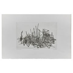 Abstrakte Radierkunst, Holland, um 1980