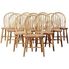 Frits Henningsen, Ten Oak Dining Chairs, 1950s