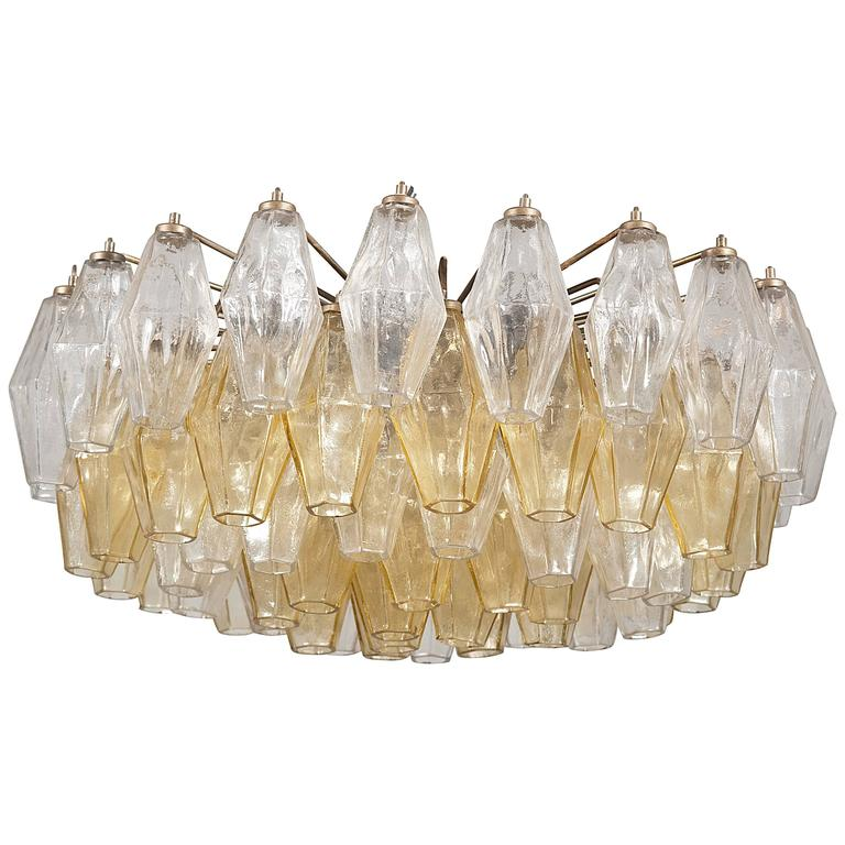 Charming venini poliedri chandelier designed by carlo for Lampadario scarpa