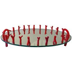 Garouste and Bonetti Coral Branch Mirror Tray