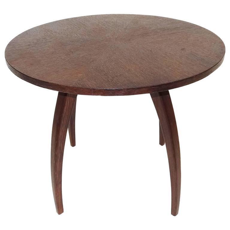 Modernist 1930s Jindrich Halabala Spider Oak Table