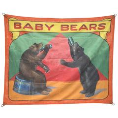 Thirsty Baby Bears Carnival Sideshow Banner