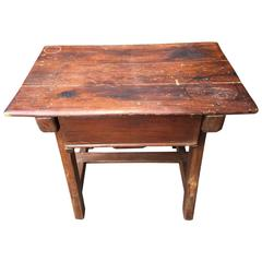 Italian Table with Drawer, 19th Century