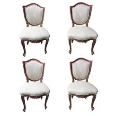 Set of Four Painted Chairs, Italy, 19th Century