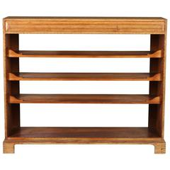 Cotswold School Arts and Crafts Gordon Russell style open bookcase display unit