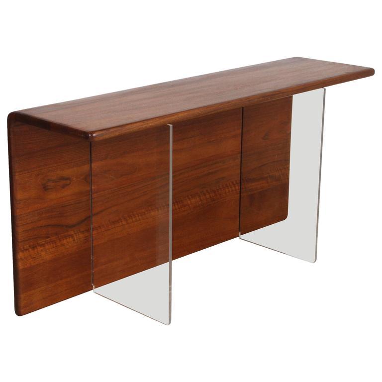 Gerald mccabe convertible cantilever console table or for Convertible console table