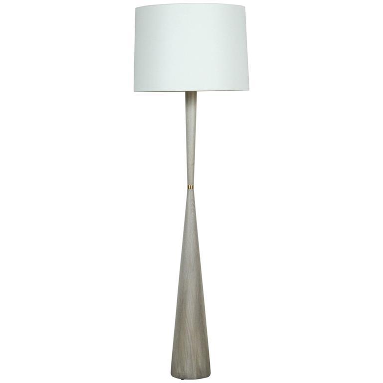 El Monte Floor Lamp by Lawson-Fenning in Whitewashed Oak
