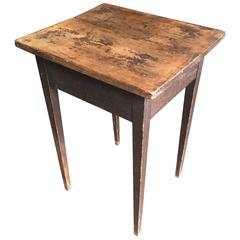 Small Painted Table, American, 19th Century